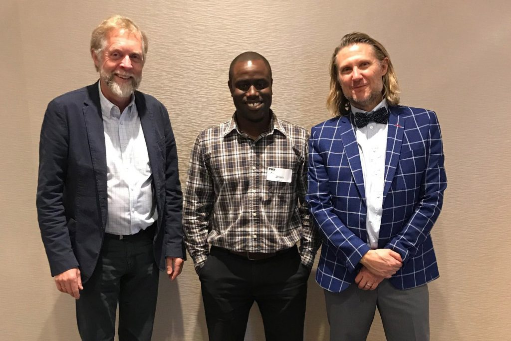 Dr. Ole Rikard Haavet (University of Oslo), Jelani Adams (TeleCBT), Dr. Greg Dubord (CBT Canada)